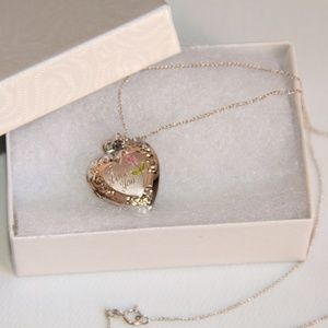 """Jewelry - Sterling Silver """"I Love You"""" Locket Chain Necklace"""